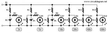 Amplifier Power Indicator circuit diagram