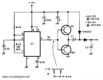 Active Voltage Doubler circuit diagram