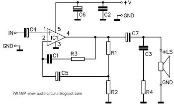 7W Amplifier with TDA2003 audio circuit