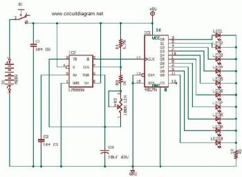 Running LEDs circuit diagram
