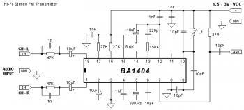 Stereo FM Transmitter 88-108 MHz based BA1404