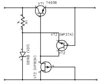 Voltage Regulator with FET KP103K
