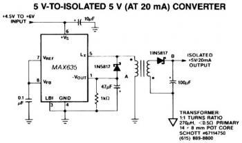 5V to Isolated 5V Converter Circuit diagram