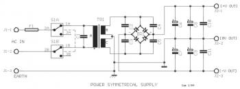 power supply for 60W Audio Amplifier