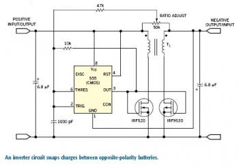 Bidirectional Power Inverter circuit diagram