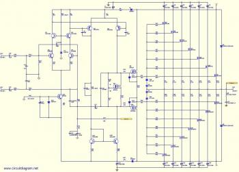 800W Audio Amplifier with MOSFETcircuit diagram