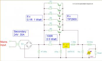12V 30A Power Supply circuit diagram
