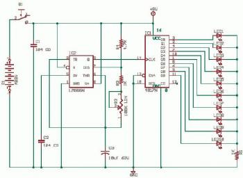 Running LED circuit diagram