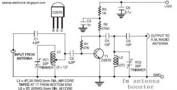 Active FM Antenna Booster circuit