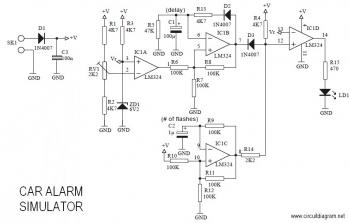 Car Alarm Simulator circuit diagram
