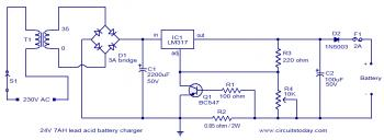 24V Lead-Acid Battery Charger Diagram