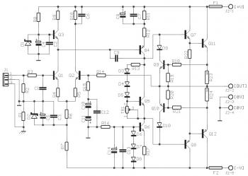 50W Power Amplifier Circuit diagram