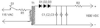 Simple Power Supply Circuit for Laser