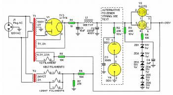 power supply for High Gain Stereo Tube Preamplifier