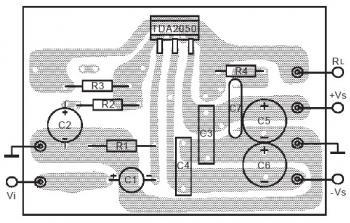 PCB desig for 32W HiFi Audio Amplifier Circuit based TDA2050