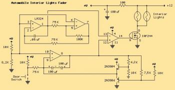 Interior Light Fader for Automobile circuit diagram