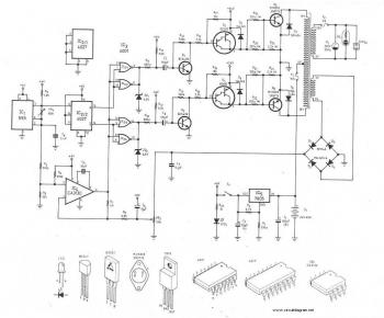 300Watt Inverter DC 24V to AC 220V schematic diagram