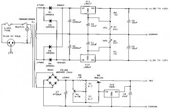 Bench Power Supply circuit diagram