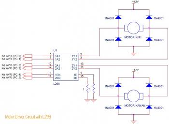 ATmega8535 Line Follower Robot circuit