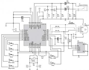 PCM2706 USB Sound Card  circuit diagram
