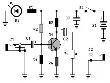 Audio Booster Circuit diagram