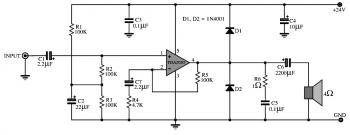 TDA2030 : 15W OTL Audio Amplifier Circuit diagram