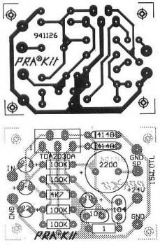 TDA2030 : 15W OTL Audio Amplifier Circuit PCB design