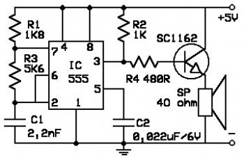 Rats Repellent circuit diagram