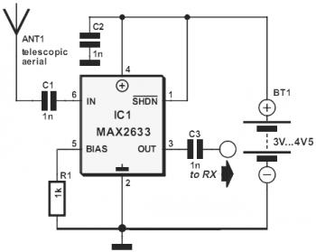 VHF RF Preamp 100-175 MHz with MAX2633