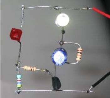 One Transistor LED Flasher electronic circuit diagram