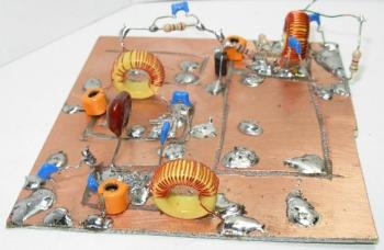40M Band RF Preamp with 3 Tuned Filters PCB