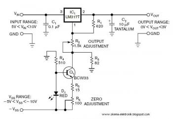 0 to 3V Adjustable Output  Power Supply circuit diagram