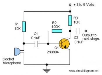 Simple Audio Pre Amplifier circuit