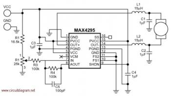 Motor Speed Control with MAX4295 circuit