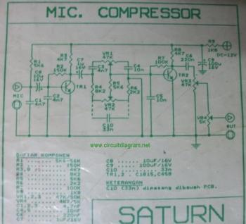 Mic Compressor circuit diagram
