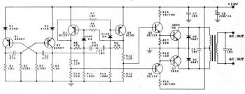 100W Transistored Inverter 12VDC to 220VAC circuit diagram
