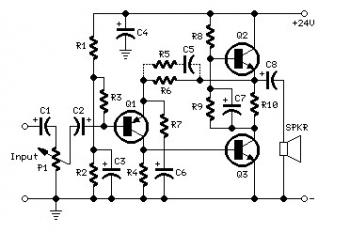 5W Audio Amplifier circuit based BD439