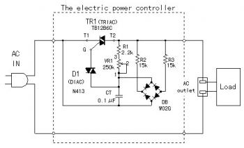 Electronic Power Controller Circuit diagram