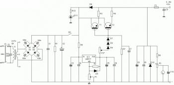 6-8A / 0-28V Variable Power Supply Circuit