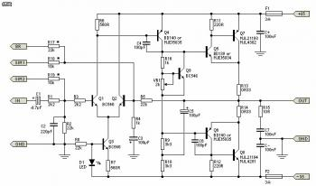 80W Power Amplifier Circuit circuit diagram