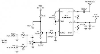 FM Transmitter Circuit with MAX2606