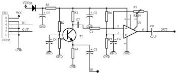 Low Impedance Mic Preamplifier Circuit using TL081
