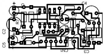 Low Impedance Mic Preamplifier using TL081 top pcb layout