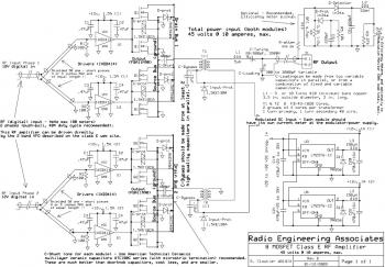 400W RF Power Amplifier with MOSFET FQA11N90 diagram