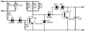 Car Transistor Ignition - Circuit Scheme